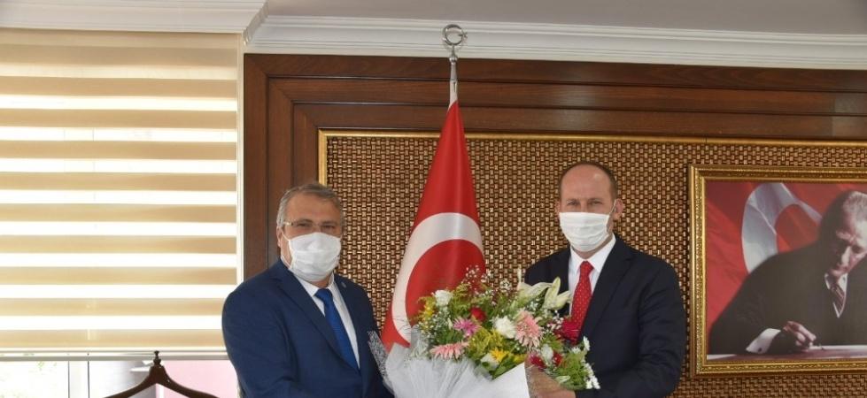 Başkan Çerçi'den Kaymakam Kantay'a 'hayırlı olsun' ziyareti