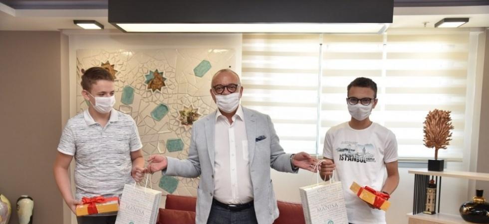 Başkan Ergün, LGS şampiyonlarını ağırladı