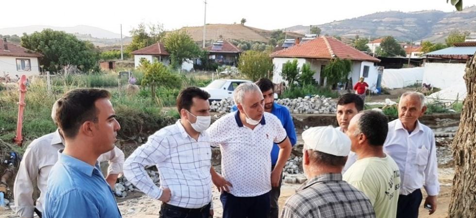 CHP'li vekiller sel felaketinden etkilenen Sarıgöl'de