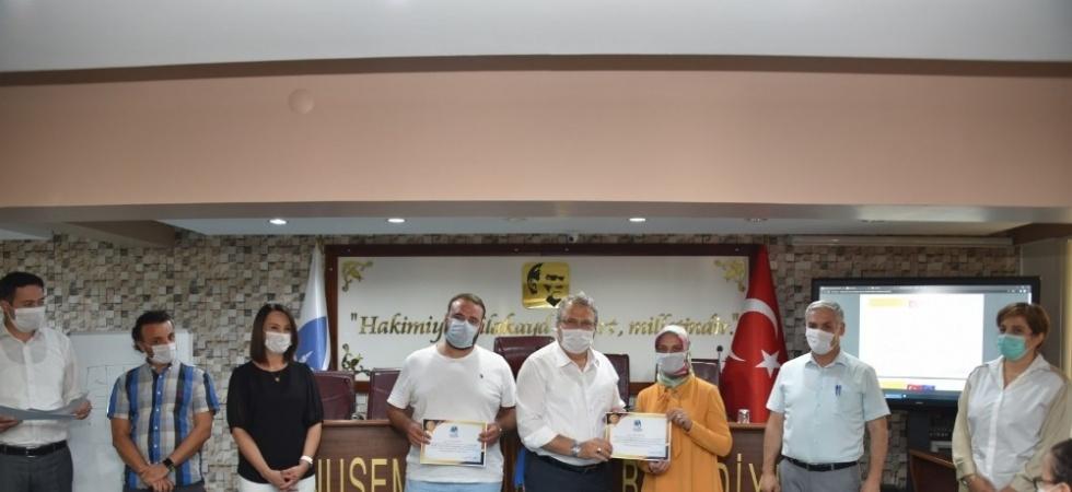 Sertifikalarını Başkan Çerçi'den aldılar