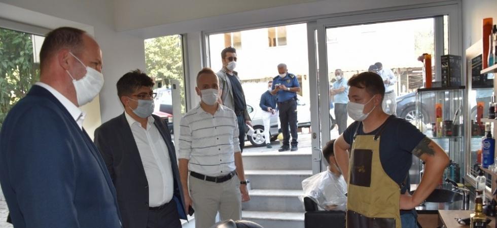 Yunusemre'de işyerlerine korona virüs denetimi