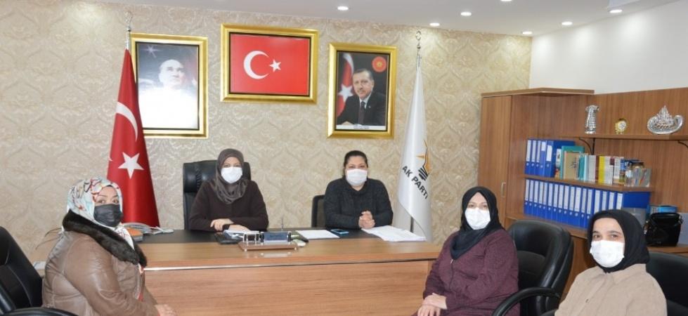 AK Parti'li kadınlardan şiddete karşı 'turuncu çizgi'