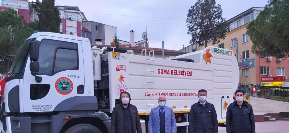 Bakanlıktan Soma Belediyesine 1 milyonluk araç hibe edildi