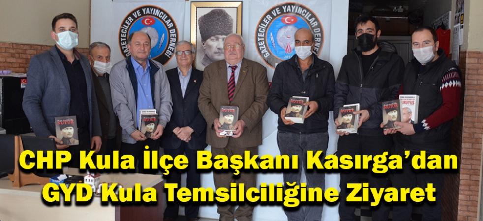 CHP Kula İlçe Başkanı Kasırga'dan GYD Kula Temsilciliğine Ziyaret