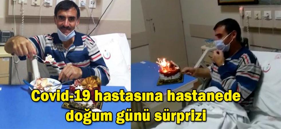 Covid-19 hastasına hastanede doğum günü sürprizi