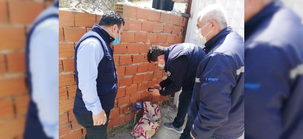 Daire Başkanı Akbaş, endeks okuma personeli ile sahaya çıktı