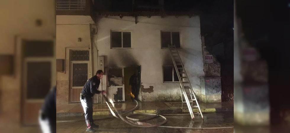 Patlayan soba yangın çıkardı: 1 yaralı