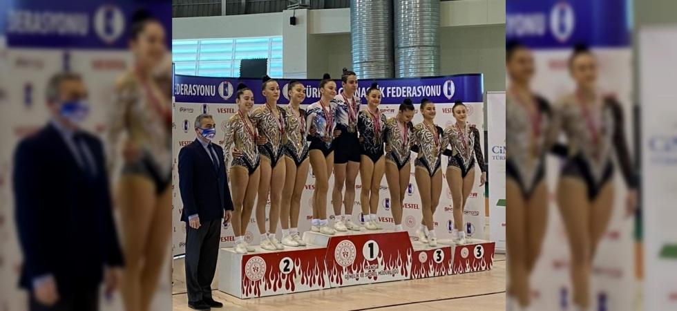 Turgutlulu cimnastikçi Şimal Seyman Türkiye Şampiyonu oldu