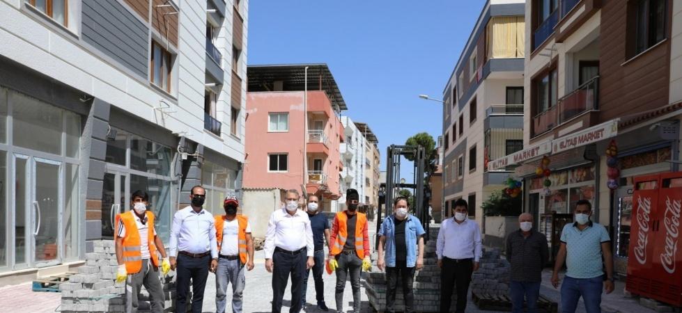 Muradiye'de yol düzenleme çalışması yapılıyor