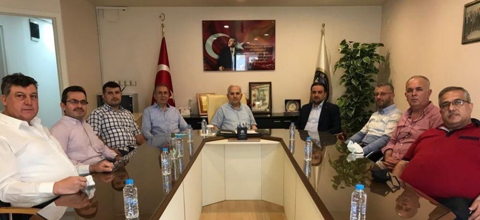 AK Parti'li Baybatur, Birlik Başkanı Çınar ile destekleri konuştu