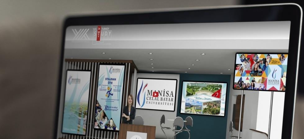 Manisa Celal Bayar Üniversitesi 'Study in Turkey YÖK sanal fuarı 2021'de yerini aldı