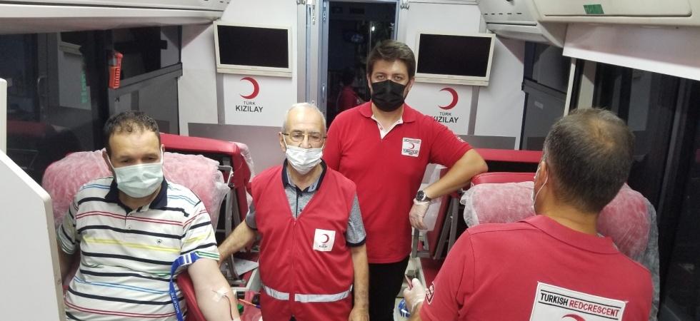 Manisalılar 15 Temmuz anısına kan vermeye koştu