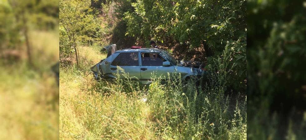 Yoldan çıkan otomobil uçuruma yuvarlandı: 1 ölü