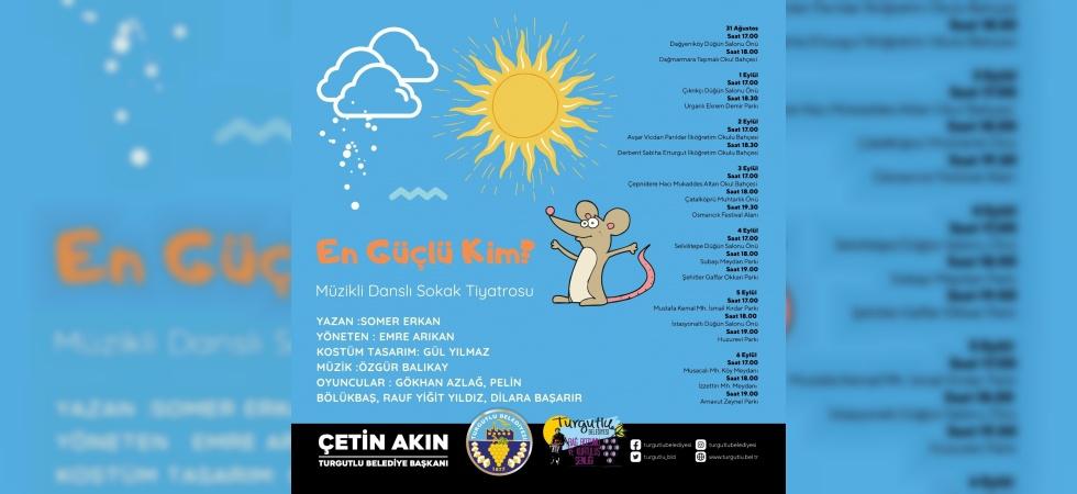 Turgutlu Belediyesinden çocuklara özel sokak tiyatrosu