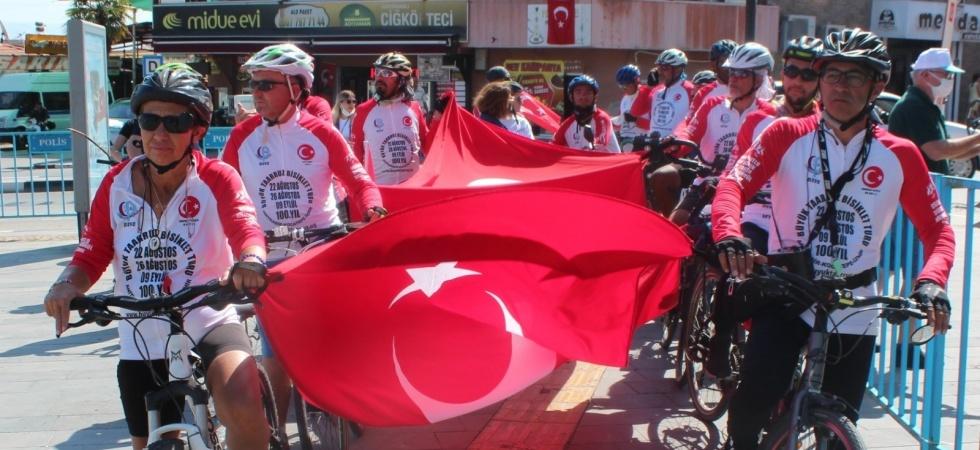 Büyük Taarruz Bisiklet Turu Alaşehir'e ulaştı