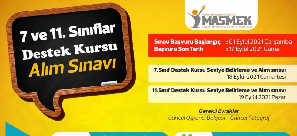 Manisa Büyükşehir'den öğrenciler için destek kursu