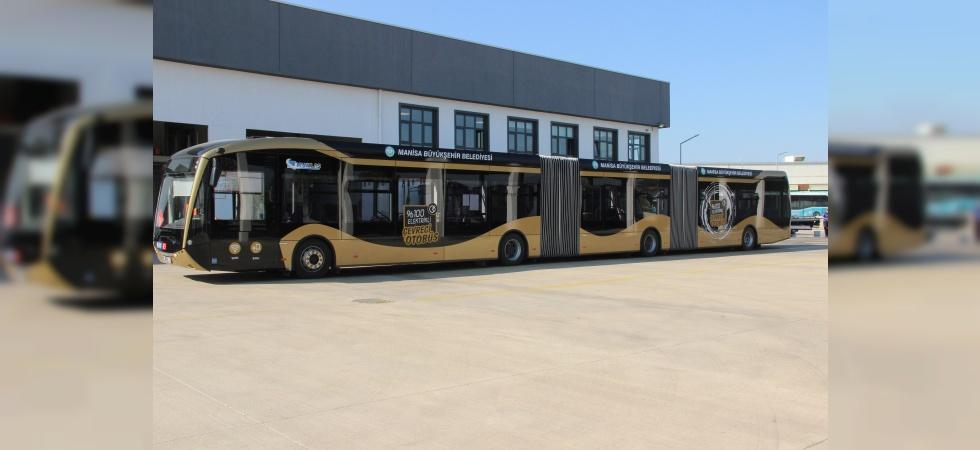 Manisa çevreci otobüsleriyle Türkiye'nin lideri