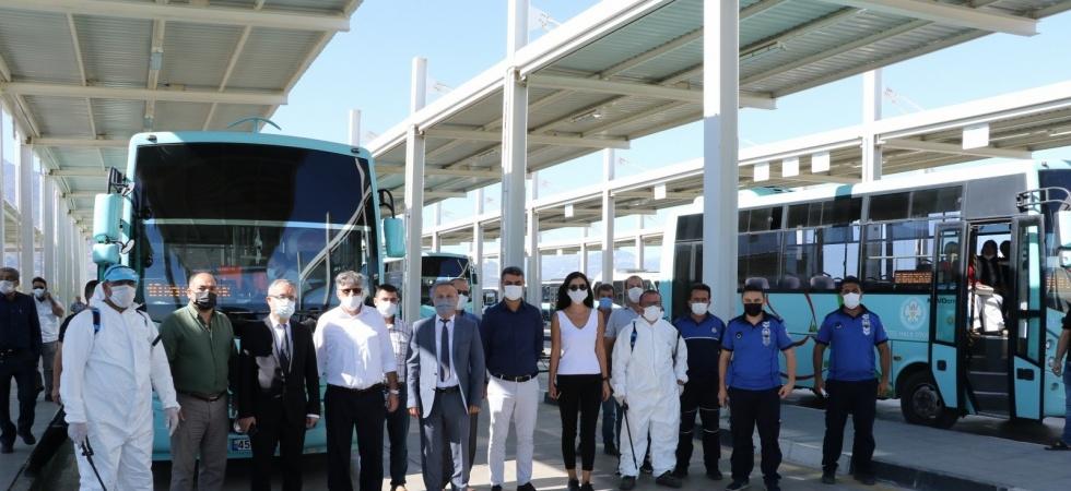 Manisa'da okullar açılmadan önce dezenfeksiyon çalışması