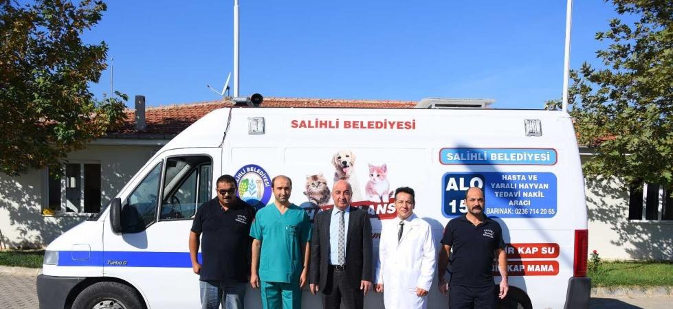 "Salihli'de hayvan ambulansı ""Haybulans"" hizmete girdi"