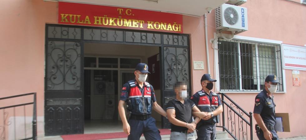 Şantaj suçundan yakalaması bulunan şüpheli Kula'da yakalandı