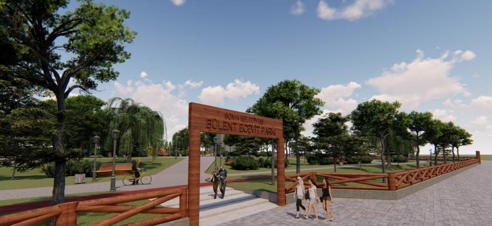 Soma'da Bülent Ecevit Parkı yenileniyor