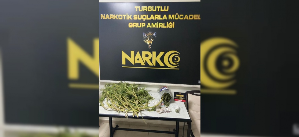 Manisa'da 521,5 gram esrar ele geçirildi