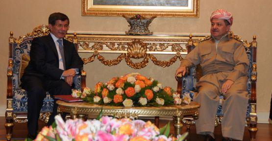 Davutoğlu, Mesut Barzani ile görüşecek