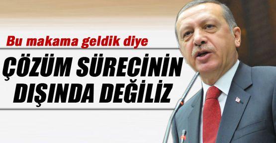 Erdoğan: Bu makama geldik diye çözüm sürecinin dışında değiliz