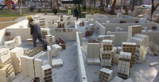 Gölmarmara'da Çocuk Kültür Ve Sanat Merkezi İnşaatı Sürüyor
