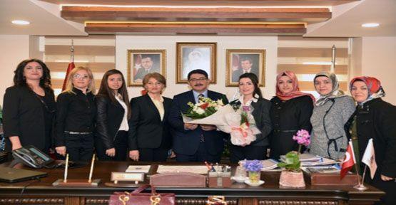 Kadınlardan Başkan Çelik'e Ziyaret