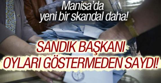 Manisa'da seçimlerle ilgili skandal iddia