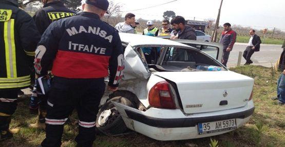 Manisa'da Trafik Kazası: 1 Ölü 5 Yaralı