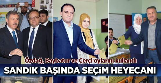 Özdağ, Baybatur ve Çerçi'den demokrasi mesajı