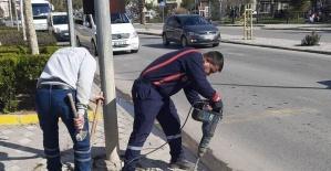 Soma sokaklarında bakım onarım işleri devam ediyor