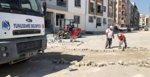 Yunusemre Belediyesinden tam kapanmada yoğun çalışma