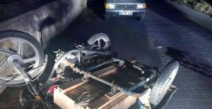 Manisa'da sepetli motosiklet devrildi: 1 ölü
