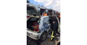 Kırkağaç'ta trafik kazası: 4 yaralı