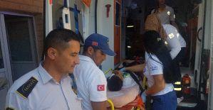 Elektrikli bisiklet küçük çocuğa çarptı: 1 yaralı