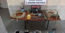 Manisa'da kaçak kazı yapanlara operasyon