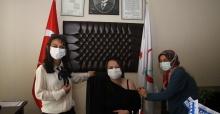 Kula'daki mahalle okulları öğretmenlerine aşılama başladı