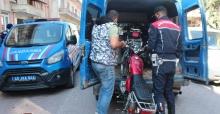 Jandarma kurallara uymayan motosikletlileri affetmedi