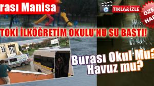TOKİ İLKÖĞRETİM OKULU'NU SU BASTI!